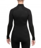 WOMENS HYBRID LONG SLEEVE ZIP NECK SHIRT - TNF Black